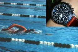 Timing a swimming race