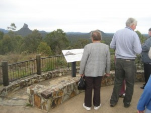 Overlooking the Glass House Mountains, Queensland.