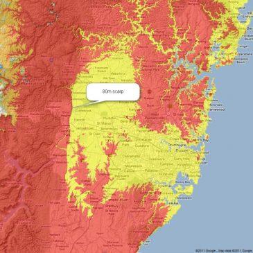 Receding floodwaters carved Sydney landscapes Google shows