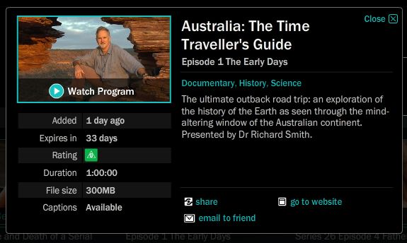 Australia: The Time Traveller's Guide—ABC Mythology