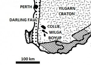 Location of Collie Basin, Western Australia