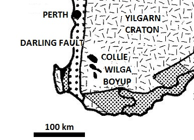 Collie coal basin, Western Australia, preserved from retreating waters of Noah's Flood