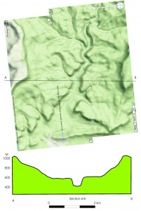 Carnarvon Gorge and its cross-section