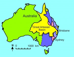 Fig 3. Great Artesian Basin as floodwaters were peaking