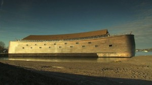Replica of Noah's Ark to the dimensions specified in the biblical account. It's some 140 metres long and has three decks with plenty of room to carry the animals and birds. Ballard's flood has no ark.