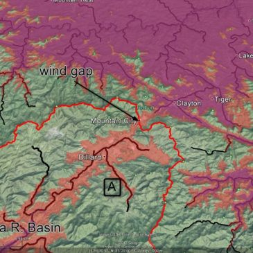 Google Earth shows Appalachians were eroded by receding floodwaters