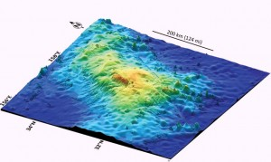 The Tamu Massif under the ocean 1600 km off Japan is the largest single volcano on earth