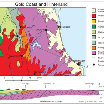 Geological maps show geological history of the Gold Coast, Australia, and relation to Noah's Flood