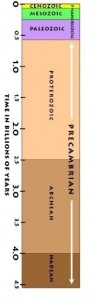 Evolutionary geological time scale