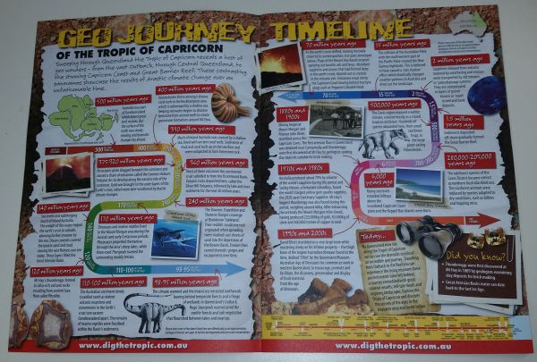 "Tourist Brochure ""A Geo Journey Through Prehistory Along the"