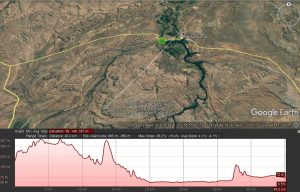 Elevation Profile across Oard River Valley south west of Kununurra
