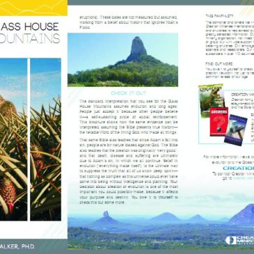 Brochure about Glass House Mountains, Australia