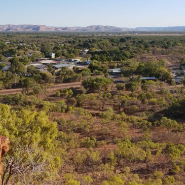 Why is the Ord River Valley near Kununurra, Western Australia, so wide and flat?